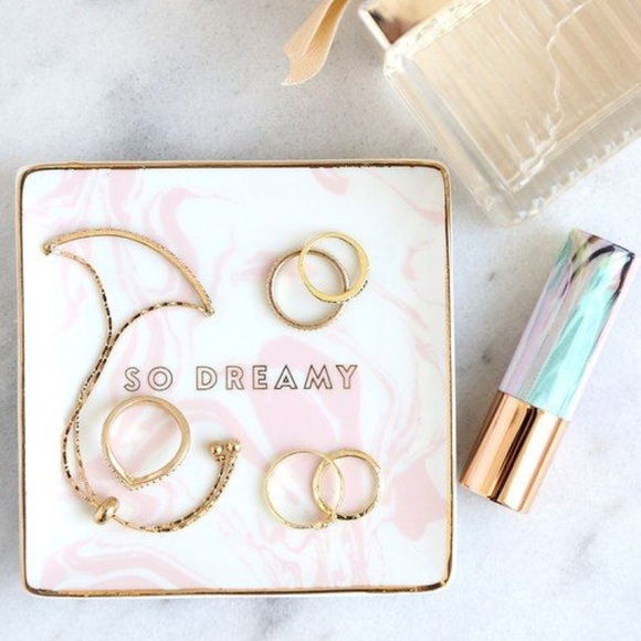 Other - Tray So Dreamy Pink Gold New In Box Gift
